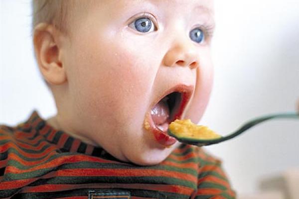 bebe aprendiendo a comer