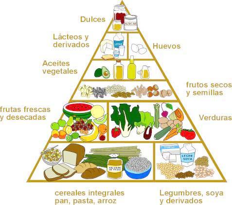piramide de alimentos vegetariana