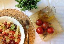 ensalada de patata tomate pimiento