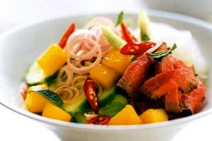 receta Ternera con mango