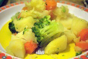 hervido de patata, zanahoria y brócoli