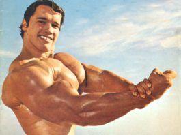 Schwarzenegger marcando bíceps