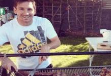Messi cocinando carne