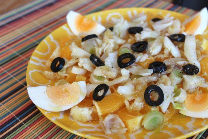 Ensalada con naranja
