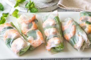 rollitos vietnamitas con menta